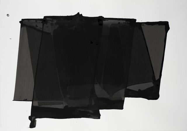, 'Faltungen schwarz,' 2014, galerie burster