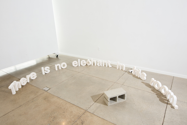 , 'There is no elephant in this room.,' 2017, Open Mind Art Space