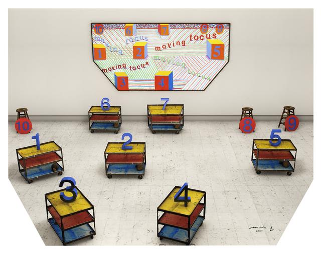 David Hockney, 'Focus Moving', 2018, Galerie Lelong & Co.