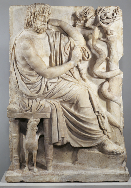 'Grave Naiskos of a Seated Man',  about 75 B.C., J. Paul Getty Museum