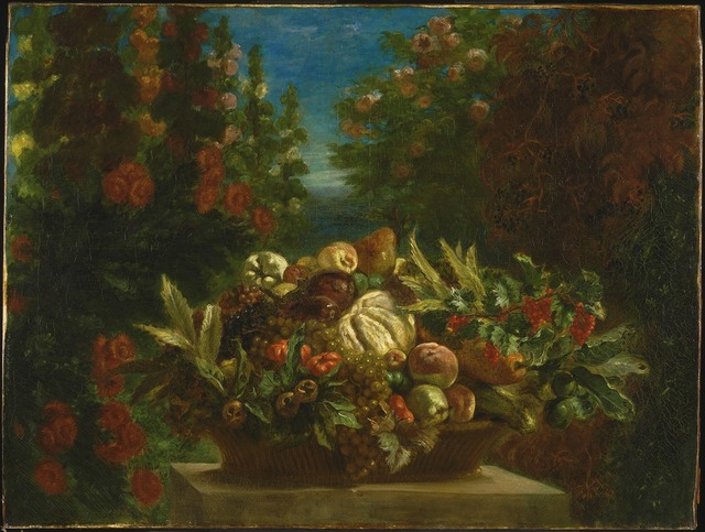 , 'A Basket of Fruit in a Flower Garden,' 1848-1849, The National Gallery, London