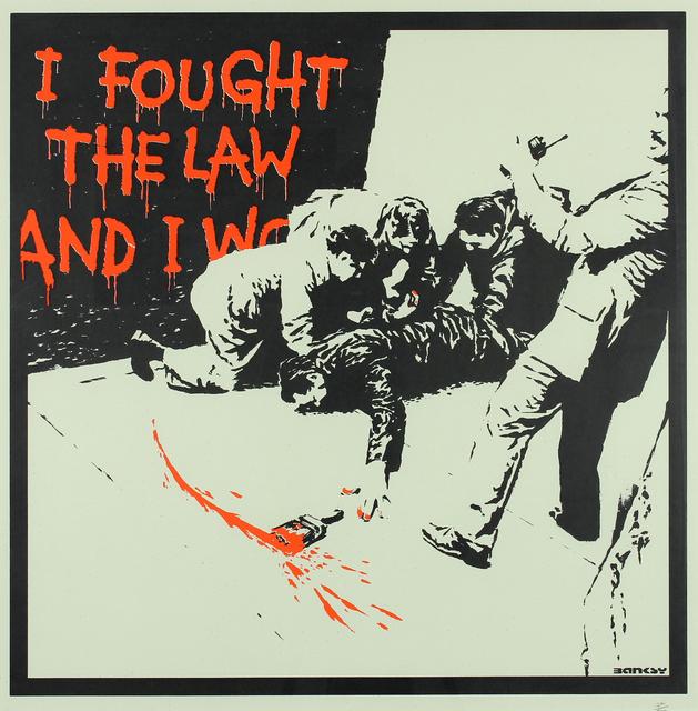 Banksy, 'I Fought The Law', 2004, Gormleys Fine Art