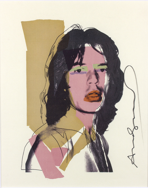 Andy Warhol, 'Mick Jagger By Andy Warhol', 1975, Print, Colored offset on paper, Bertolami Fine Arts