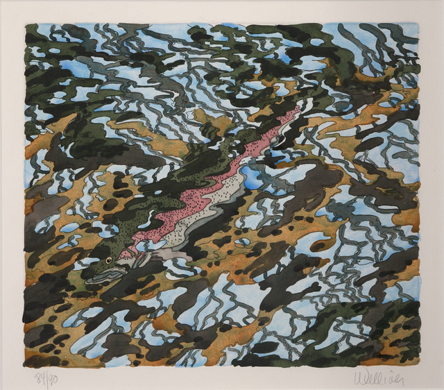 Neil G. Welliver, 'Trout and Reflected Tree', 1985, Dowling Walsh