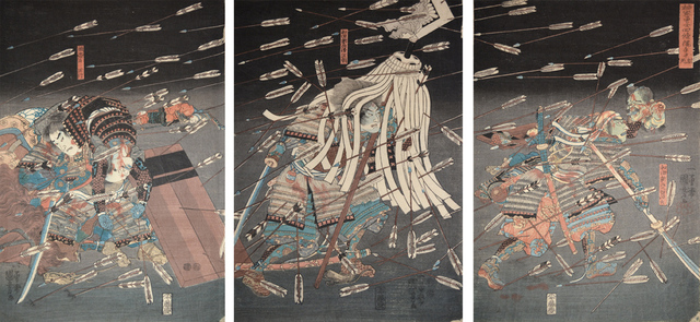 , 'The Last Stand of the Kusunoki Clan at Shijo Nawate,' ca. 1850 , Ronin Gallery