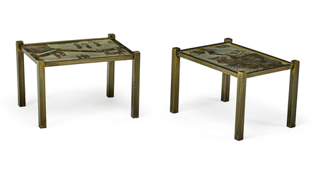 Pair of side tables, New York