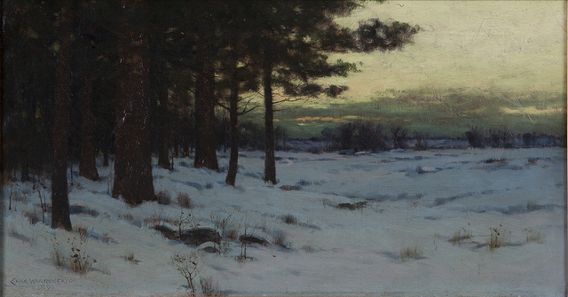 , 'Snowy Landscape at Dusk,' 1890, Montclair Art Museum