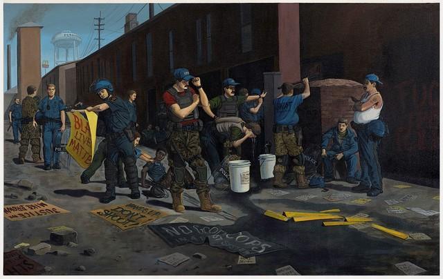 , 'Standing Down (Ferguson),' 2016, P.P.O.W