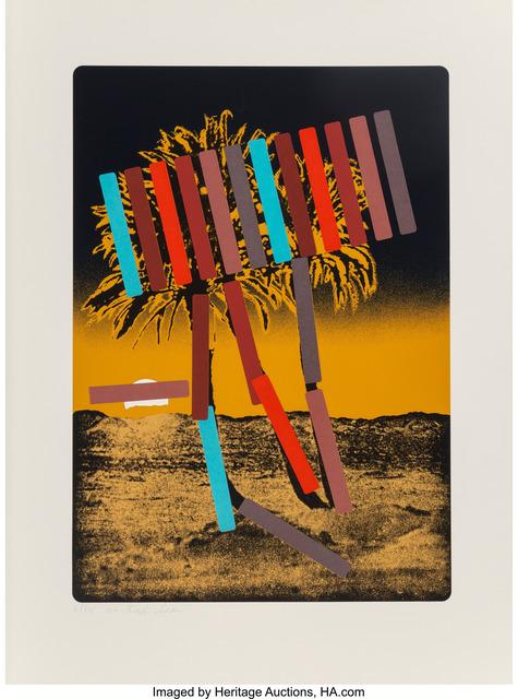 Menashe Kadishman, 'Yellow with Black Palm', circa 1979, Heritage Auctions