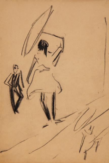 Ernst Ludwig Kirchner, 'Mädchen auf Drahtseil mit Schirm', 1910, Henze & Ketterer