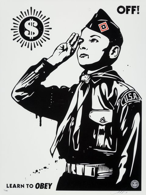 Shepard Fairey, 'Learn to Obey', 2014, Heritage Auctions