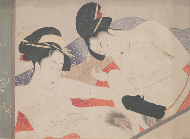 , 'Women using a dildo,' 1801, Mirat & Co.