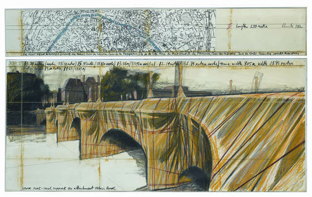 , 'The Pont Neuf, wrapped (Project for Paris),' 1982, Repetto Gallery