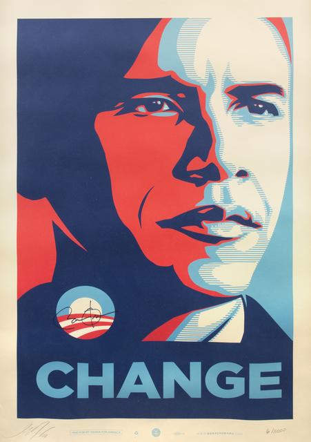 Shepard Fairey (OBEY), 'Obama: Change', 2008, Julien's Auctions