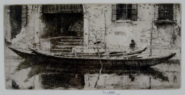 Ernest David Roth, 'Moored Sandolo, Venice', 1905, Private Collection, NY
