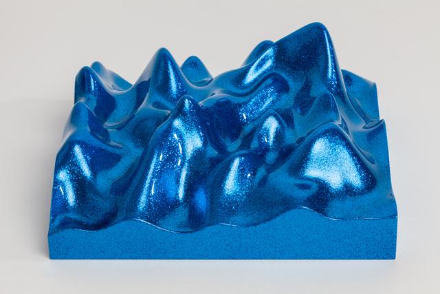 , 'Unknown Pleasure, Metal Flake 011718 Royal blue,' 2015, Paul Stolper Gallery