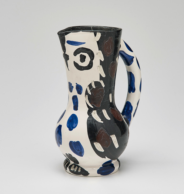 Pablo Picasso, 'Petit pichet de hibou (Small Owl Pitcher)', 1955, Design/Decorative Art, White earthenware turned pitcher, painted in colours with partial engraving and brushed glaze., Phillips