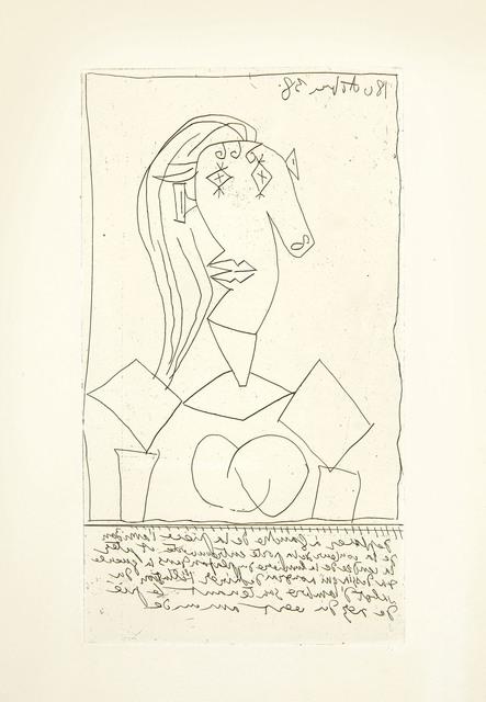 Pablo Picasso, 'Buste de femme a la chaise', 1938, Christie's