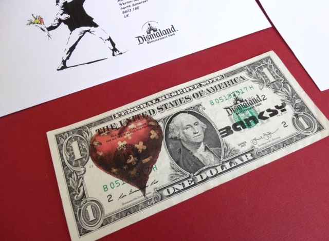 Banksy, 'BANKSY DISMALAND US DOLLAR HEART, DISMAL DOLLAR, COMPLETE WITH COA ', 2015, Arts Limited