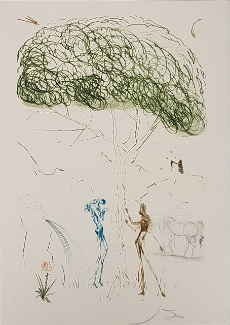 """Salvador Dalí, 'Illustration from """"Tristan and Isolde""""', 1969, Wallector"""