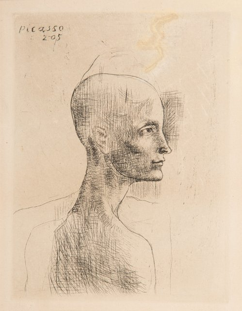Pablo Picasso, 'Buste d'homme, from la suite des Saltimbanques', 1905, Print, Drypoint on Van Gelder Zonen wove paper, Heritage Auctions