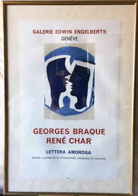 Georges Braque, 'Georges Braque Rene Char, Lettera Amorosa, Galerie Edwin Engelberts, Geneve Original Poster', ca. 1960, Posters, Original Period Lithograph, David Lawrence Gallery