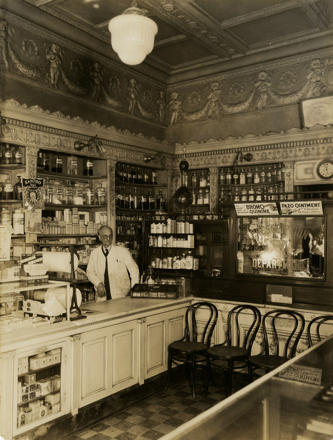 Berenice Abbott, 'Old Drug Store, Market St. Interior', 1931, Etherton Gallery