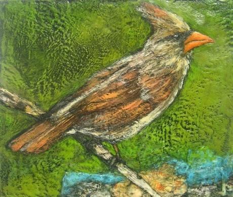 Marcie Wolf-Hubbard, 'Well-Traveled (Female Cardinal)', Zenith Gallery