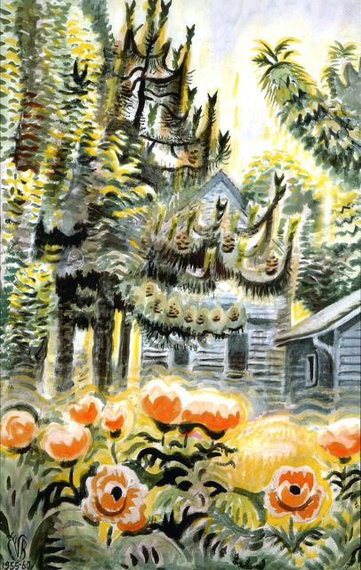 , 'Pine Trees and Oriental Poppies,' 1955-1960, Debra Force Fine Art