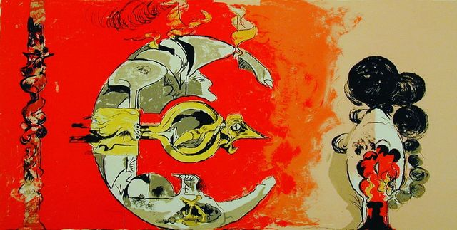 Graham Sutherland, 'Fossil with Rocks and Flames', 1975, Sworders