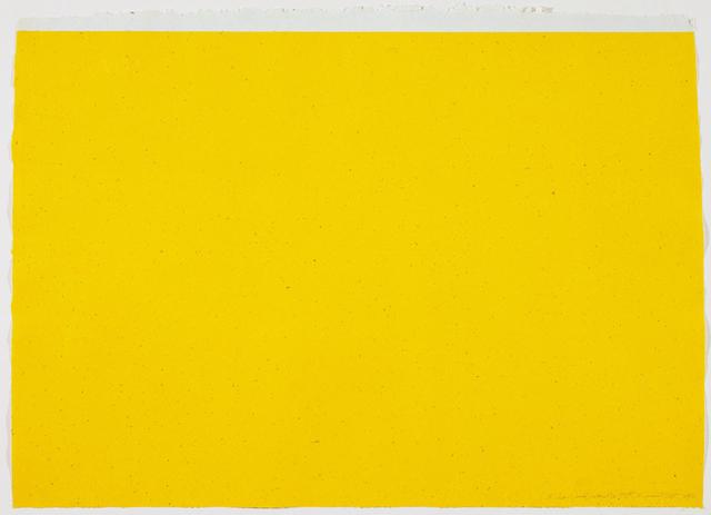 Dan Flavin, '(To Don Judd, Colorist) 3', 1987, Print, 1-color lithograph, Gemini G.E.L. at Joni Moisant Weyl