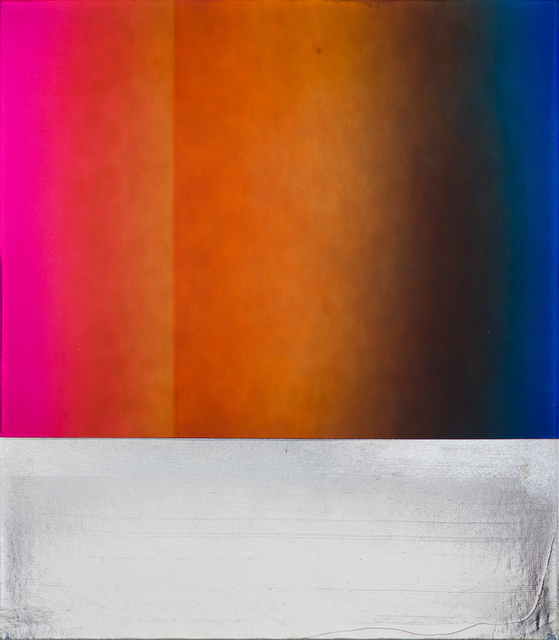 Jimi Gleason, 'JG 46', 2020, Painting, Silver deposit and acrylic on canvas, Bentley Gallery