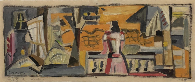 Werner Drewes, 'Woman on Balcony', 1947, William Havu Gallery