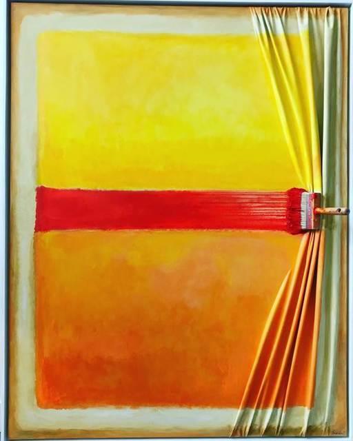 , 'Brosse arrêtée with Rothko's hand ,' 2018, Galerie Vivendi