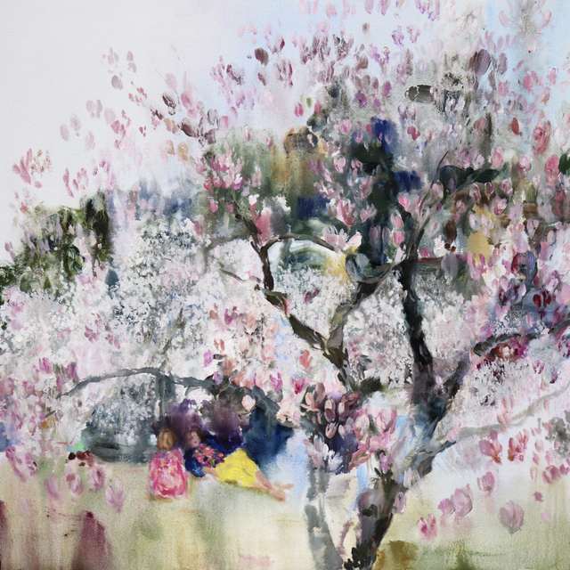 , 'Velvet (when the cherry blossoms and magnolia happen at the same time),' 2018, Bau-Xi Gallery