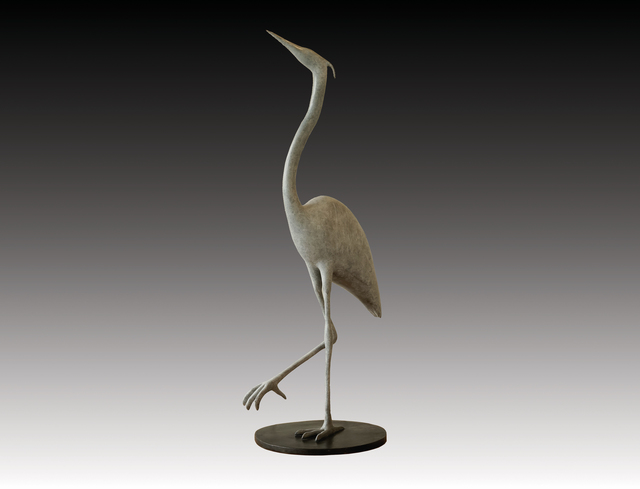 , 'Blue Heron Alert,' , Robert Hooke Sculpture Gallery