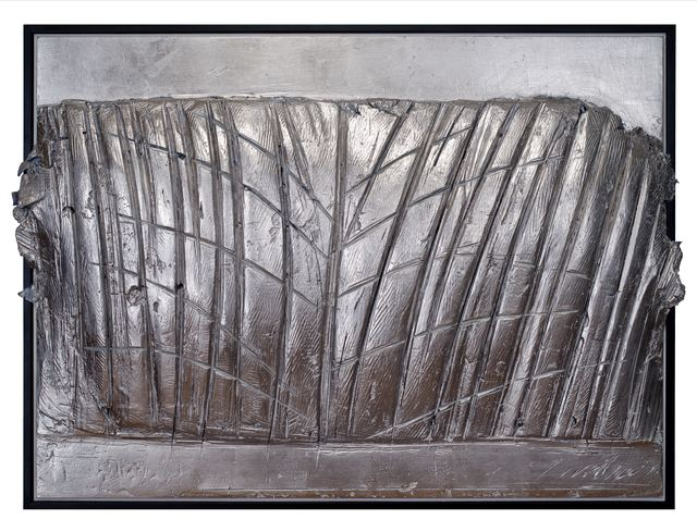 George Dunbar, 'Geneve-Surge Series', Painting, Gray clay with palladium leaf, Callan Contemporary