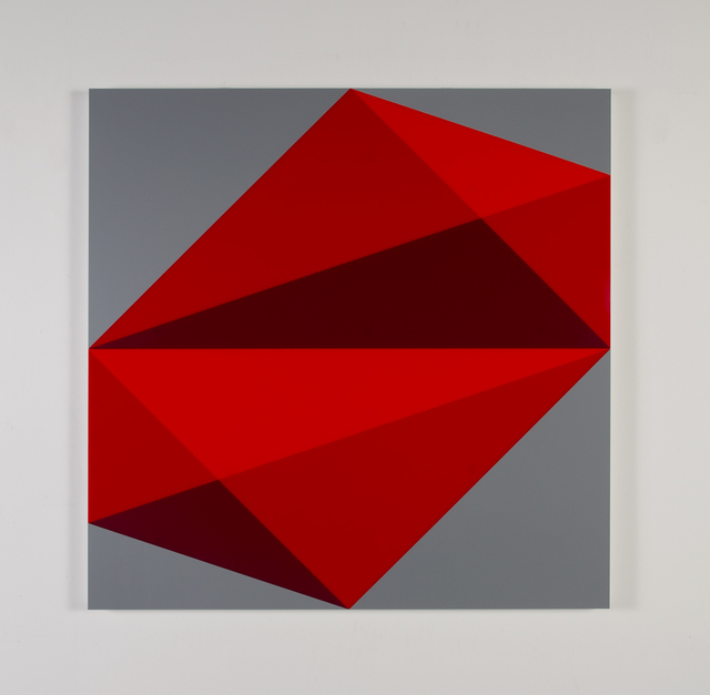 , 'Composition in 2662 Red, 2793 Red and 2240 Maroon,' 2015, Miller Yezerski Gallery