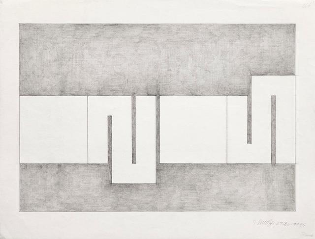 , '26b - 29.30 X 77 ZG,' 1977, Galerie Krinzinger