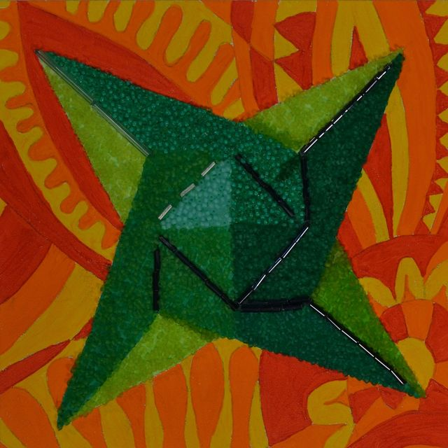 , 'Green Star on Orange,' 2016, Ro2 Art