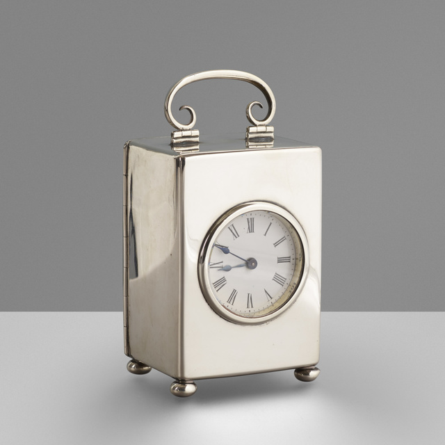 W&G Neal, 'Silver carriage clock', 1899, Rago/Wright