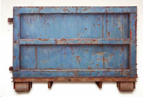 ", '""Dumpster (Blue) East Moline"",' 2016, McCaig-Welles"