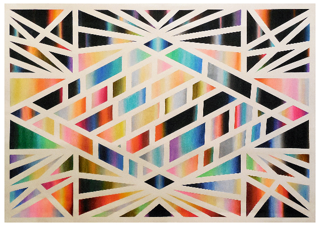 , 'Composition 2, (variation on diamond theme),' 2014, Alfa Gallery