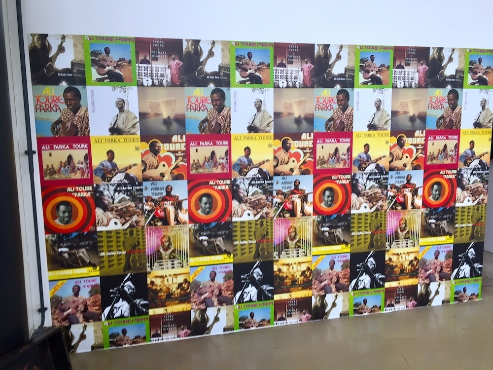 "Wall of LPs representing Ali Ibrahim ""Ali Farka"" Touré. Image: Ben Davis."