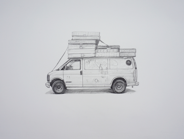 , 'Bed Bug Van,' 2017, Jonathan LeVine Projects