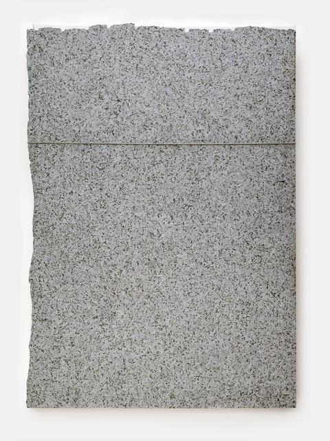 Giovanni Anselmo, 'Untitled', 1990, Sculpture, Stone, canvas, steel cable, noose, Alfonso Artiaco
