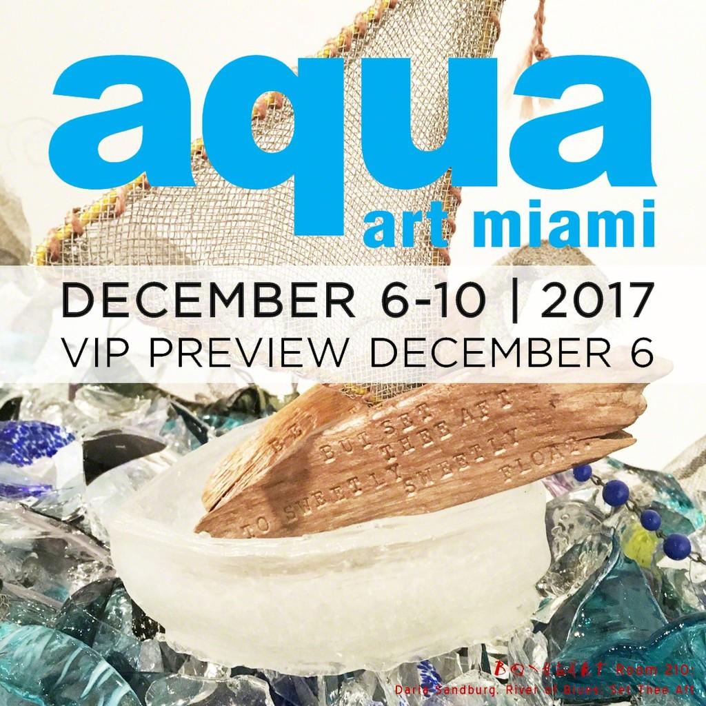 BoxHeart @ Aqua Art Miami 2017, Room 210 featuring Daria Sandburg, River of Blues