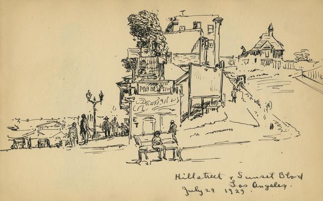 , ' Hill Street & Sunset Blvd, Los Angeles, July 29, 1929,' 1929, Anthony's Fine Art