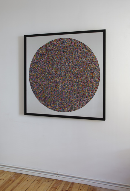 Bharti Kher, 'Psychogenic Fugue', 2011, Mixed Media, Bindis on aluminium board, Nature Morte