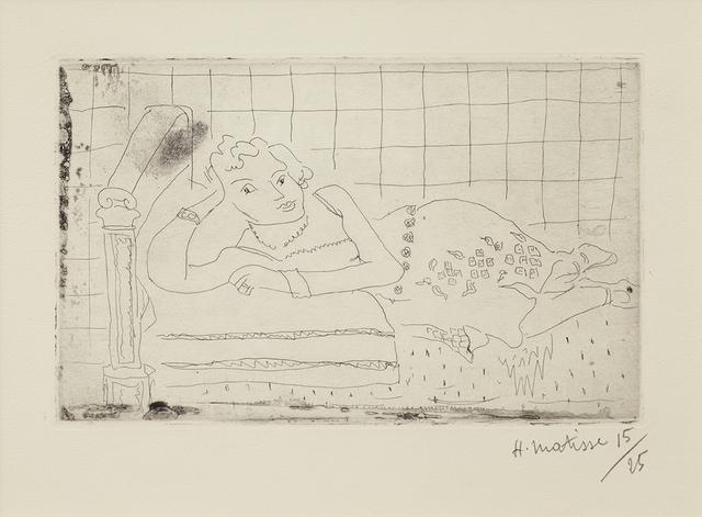 , 'Figure allongee sur un Lit d'Acajou,' 1929, Alan Cristea Gallery